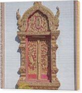 Wat Buppharam Phra Wihan Window Dthcm1581 Wood Print