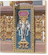 Wat Chedi Mae Krua Wihan Veranda Rail Decorations Dthcm1847 Wood Print