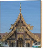 Wat Jed Yod Gable Of The Vihara Of The 700 Years Image Dthcm0963 Wood Print