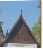 Wat Jed Yod Phra Ubosot Teakwood Gable Dthcm0968 Wood Print