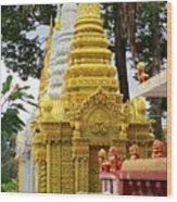 Wat Krom 30 Wood Print