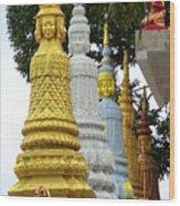 Wat Krom 31 Wood Print