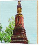 Wat Krom 32 Wood Print