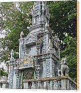 Wat Krom 37 Wood Print