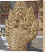 Wat Kumpa Pradit Phra Wihan Five-headed Naga Dthcm1664 Wood Print