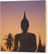 Wat Mahathat Wood Print