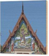 Wat Pho Samphan Phra Ubosot Gable Dthcb0066 Wood Print