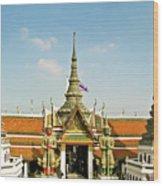 Wat Po Bangkok Thailand 13 Wood Print
