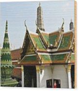 Wat Po Bangkok Thailand 14 Wood Print