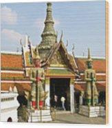 Wat Po Bangkok Thailand 16 Wood Print