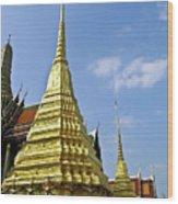 Wat Po Bangkok Thailand 18 Wood Print