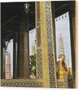 Wat Po Bangkok Thailand 22 Wood Print