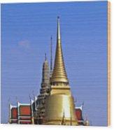 Wat Po Bangkok Thailand 3 Wood Print