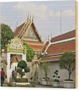 Wat Po Bangkok Thailand 35 Wood Print