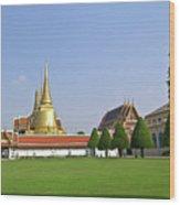 Wat Po Bangkok Thailand 37 Wood Print