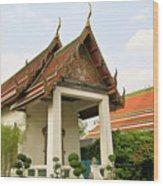 Wat Po Bangkok Thailand 39 Wood Print