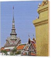 Wat Po Bangkok Thailand 6 Wood Print