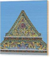 Wat Ratcha Orasaram Phra Wihan Gable Dthb0862 Wood Print