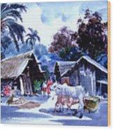 Watar Color Village Wood Print