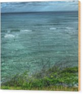 Watching From Afar Kuilei Cliffs Beach Park Surfing Hawaii Collection Art Wood Print