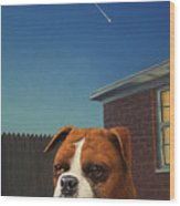 Watchdog Wood Print
