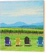 Watching The Grapes Grow Wood Print