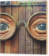 Watching You Wood Print