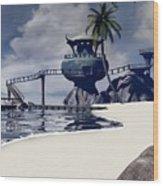 Watchtower Beach Wood Print