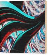 Water 4 Wood Print