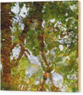 Water Abstract 17 Wood Print