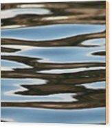 Water Abstract Okanagan Lake Wood Print