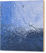 Water Abstraction - Blue Reflection Wood Print