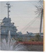 Water And Metal Wood Print