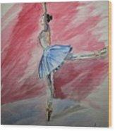 Water Ballerina Wood Print
