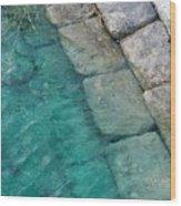 Water Blocks Wood Print