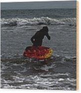 Water Boarding Wood Print