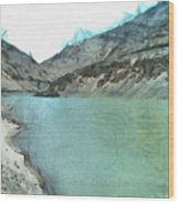 Water Body In The Himalayas Wood Print