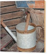 Water Can Wood Print