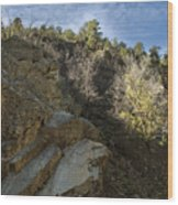 Water Canyon Sky View Wood Print