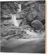 Water Cascade Wood Print