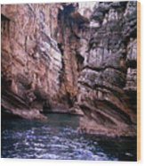 Water Caves - Italy Wood Print
