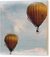 Water Color Balloons Wood Print