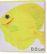Water Color Of Fish Wood Print