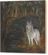 Water Dark Wood Print