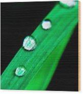 Water Diamonds 14 Wood Print
