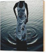 Water Dress Wood Print