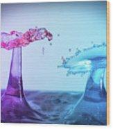 Water Drop 27 Wood Print
