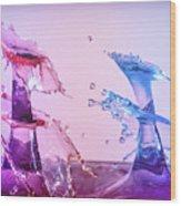 Water Drop 28 Wood Print