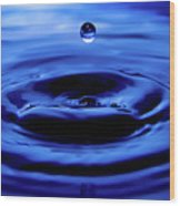 Water Drop Wood Print by Eric Ferrar