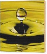 Water Drop Wood Print